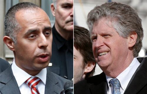 Rhode Island Gov. Dan McKee (R) was confronted Wednesday evening by the mayor of Providence Jorge Elorza (L)