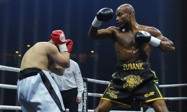 Boxer Chris Eubank's son Sebastian has died in Dubai days before his 30th birthday. Eubank is shown here during one of his bouts.