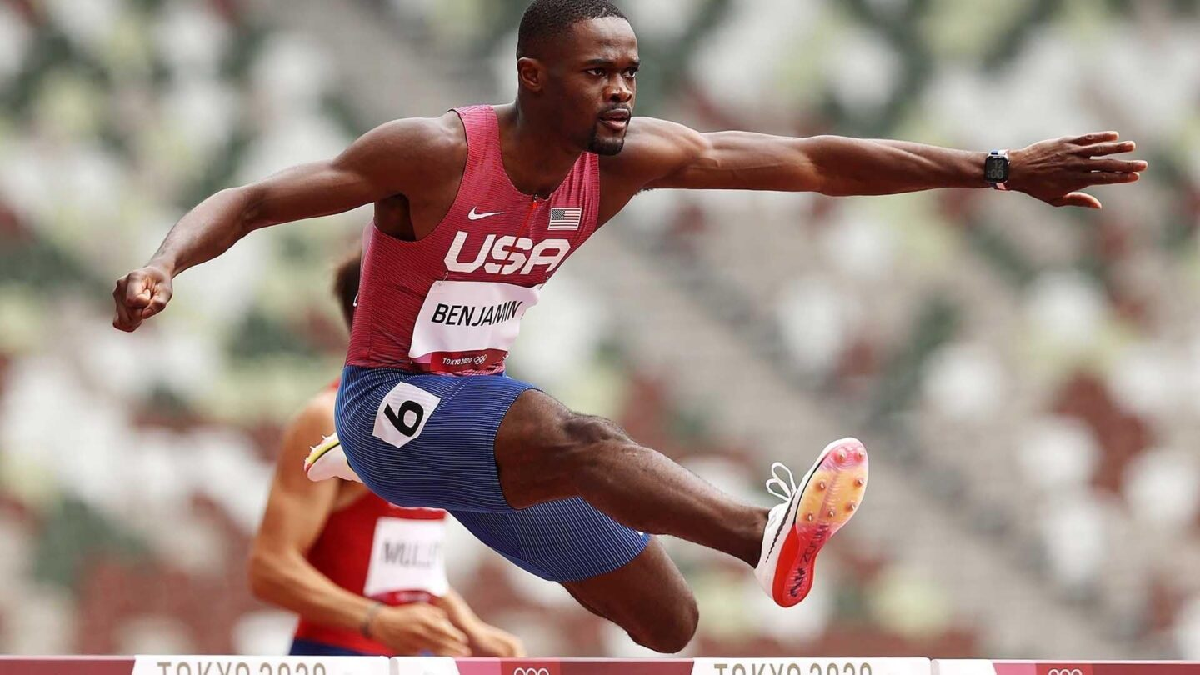 Benjamin cruises to 400m hurdles first-round heat victory