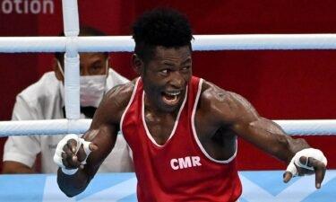 Albert Mengue Ayissi with epic celebration of TKO