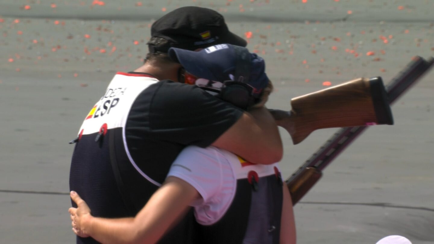 First mixed trap team gold goes to Spain after late drama