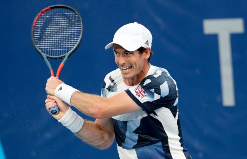 Andy Murray at the 2020 Tokyo Olympics