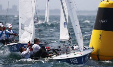 Rough water in sailing