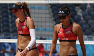 Kelly Claes and Sarah Sponcil of Team USA fall to Canada at the Olympics