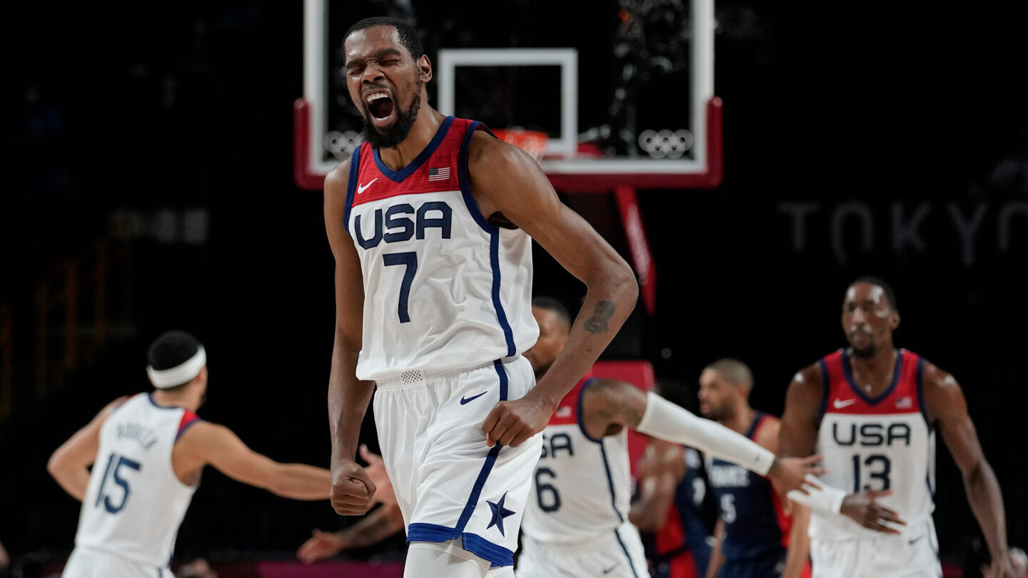 <i>Eric Gay/AP</i><br/>Kevin Durant led Team USA to gold with 29 points against France.