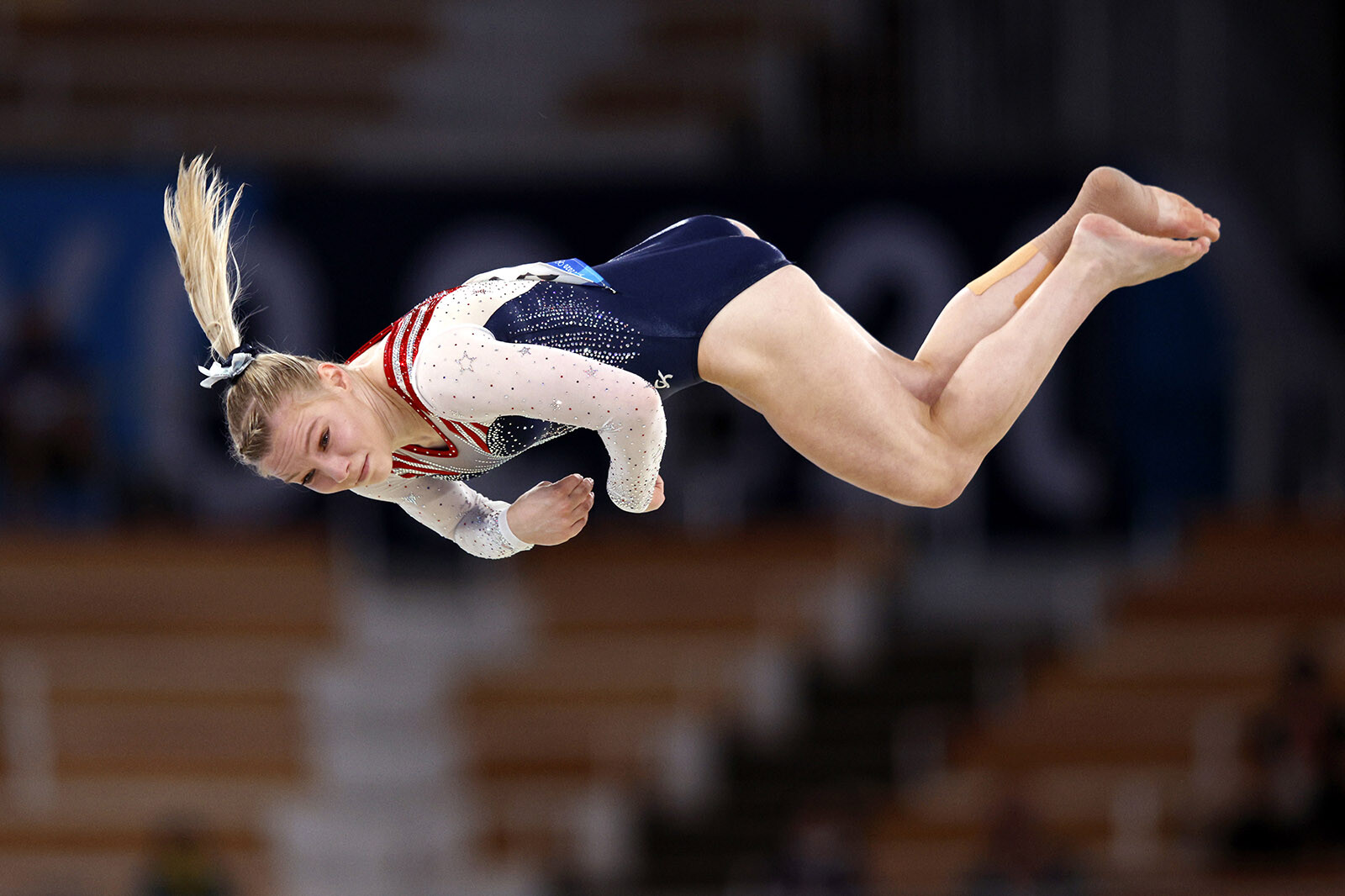 <i>Adam Pretty/Getty Images</i><br/>Jade Carey of Team USA competes during the women's floor exercise final at the Ariake Gymnastics Centre.
