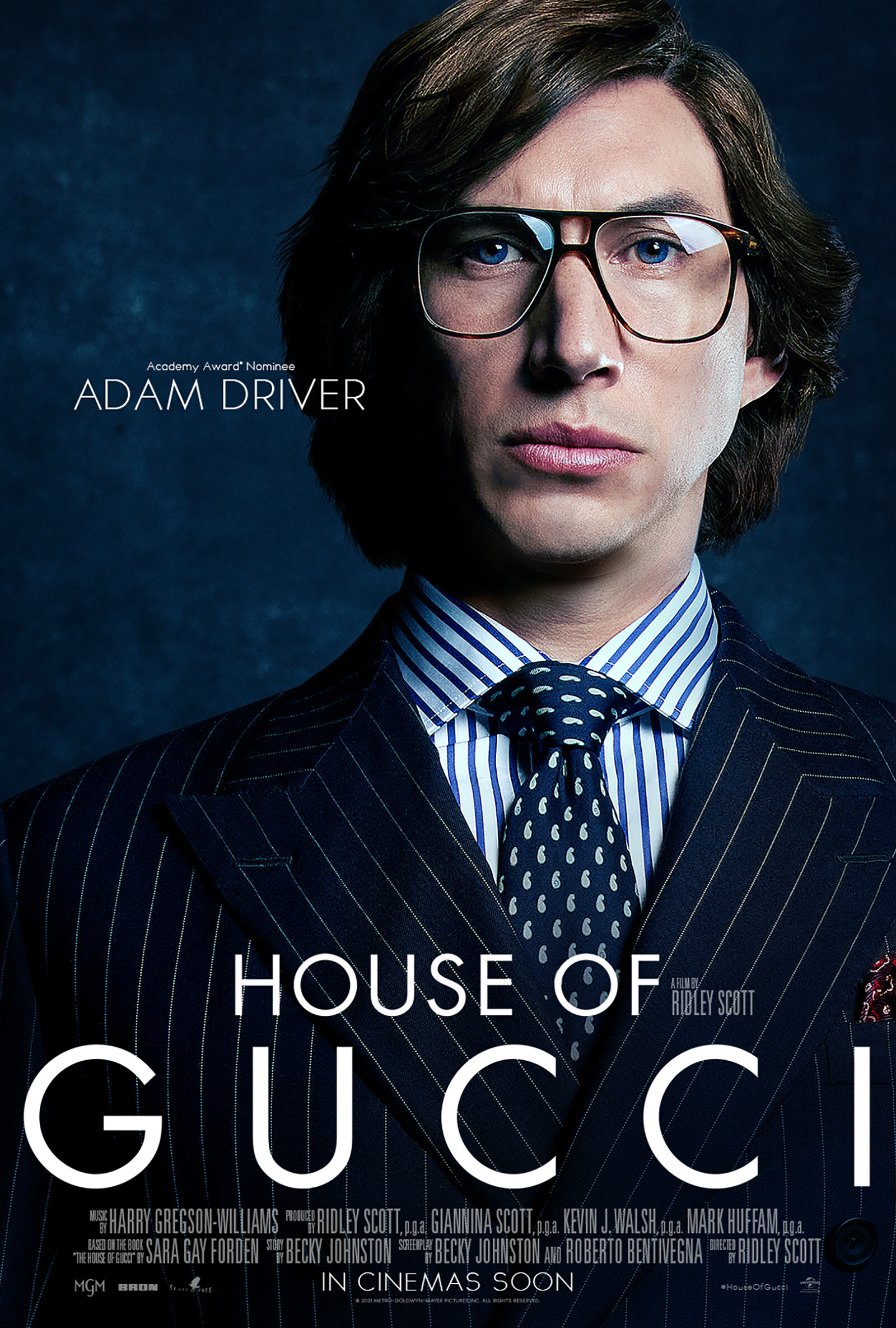 <i>Courtesy of Universal Pictures</i><br/>House of Gucci stars Lady Gaga and Adam Driver.