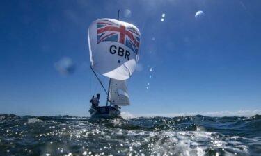 British sailors prep boat