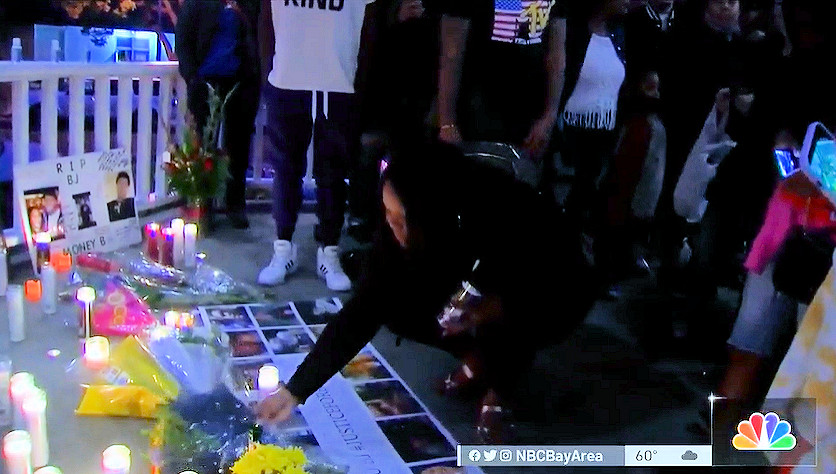 A vigil for Barry 'BJ' Washington Jr. was held Saturday evening in Benicia, Calif.