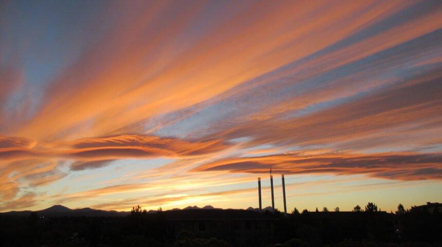 Bend sunset smokestacks Johnny Oliver 915
