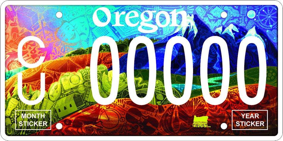 Celebrate Oregon! license plate