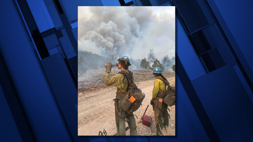 Crews on the scene of the Cougar Peak Fire northwest of Lakeview