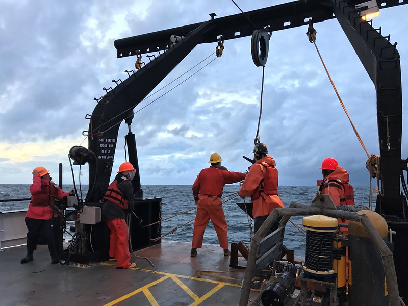 Oregon State University scientists and students conduct research to track hypoxia in the Pacific Ocean off the Oregon Coast