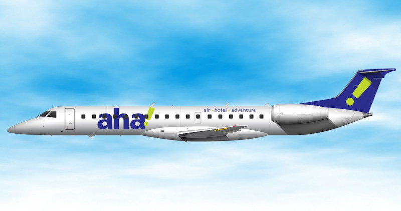 ExpressJet Airlines new 'aha!' service makes use of 50-seat Embraer ERJ-145 jets