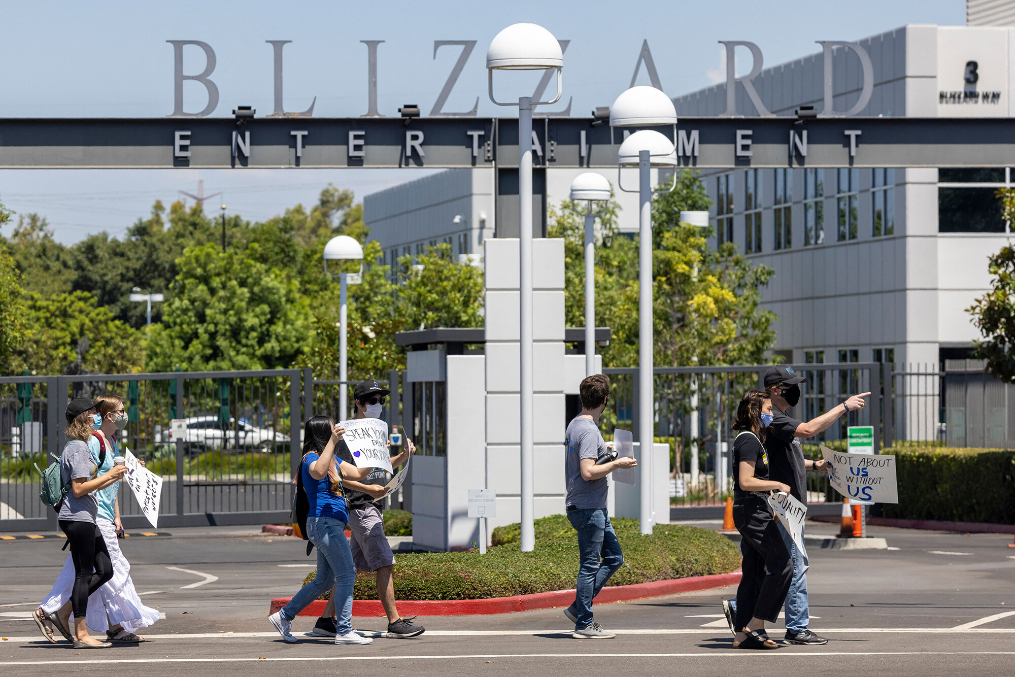 <i>David McNew/AFP/Getty Images</i><br/>Activision Blizzard employees