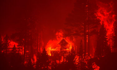 The Caldor Fire burns homes near South Lake Tahoe