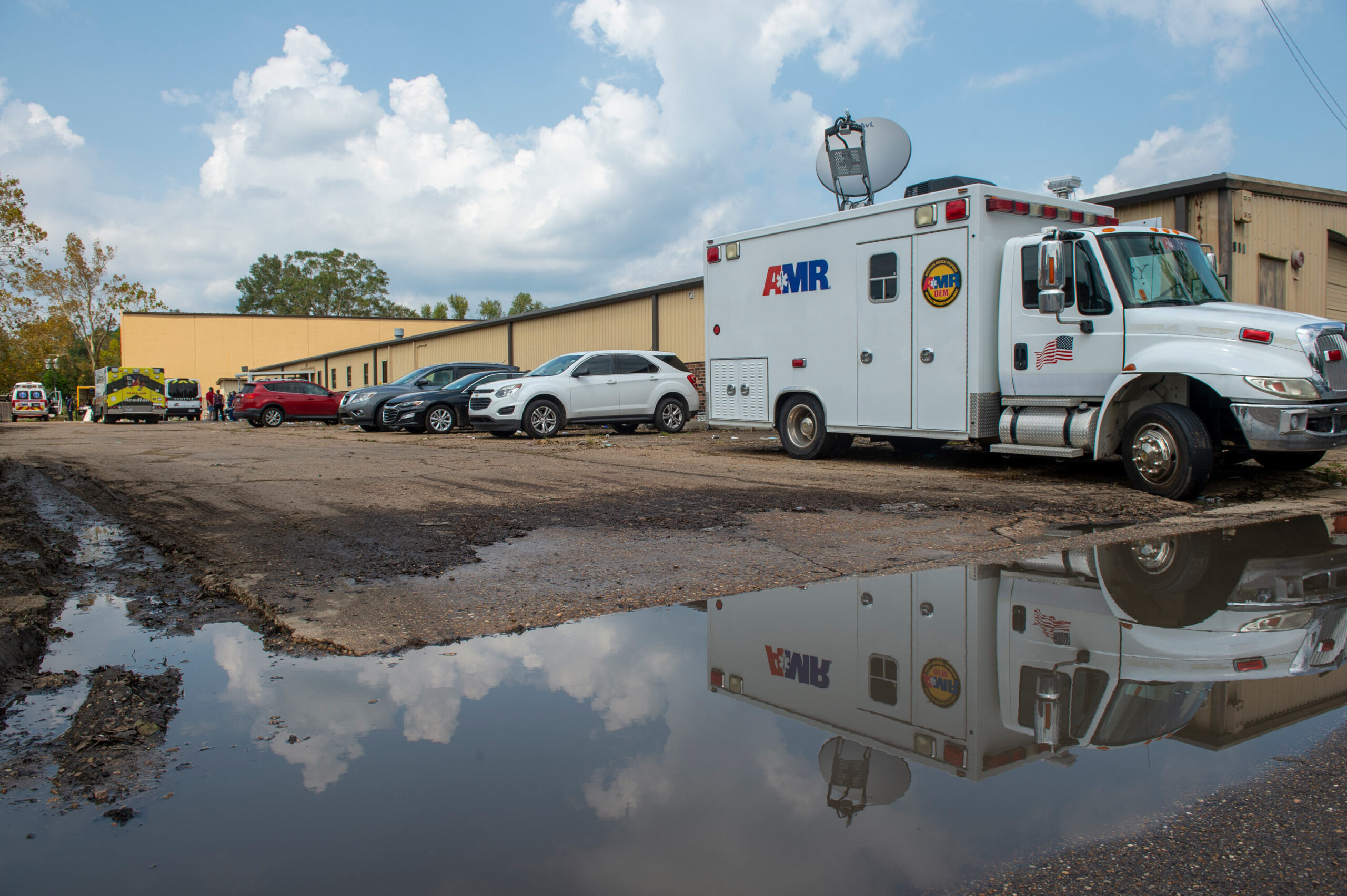 <i>Chris Granger/The Times-Picayune/The New Orleans Advocate/AP</i><br/>The Louisiana Department of Health was aware of plans to evacuate nursing home residents to a warehouse to shelter during Hurricane Ida. Pictured is a mass shelter in Independence