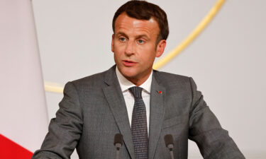 President Joe Biden is currently not expected to speak with French President Emmanuel Macron (seen here) on Monday
