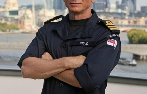 The British Royal Navy shows off its newest honorary officer