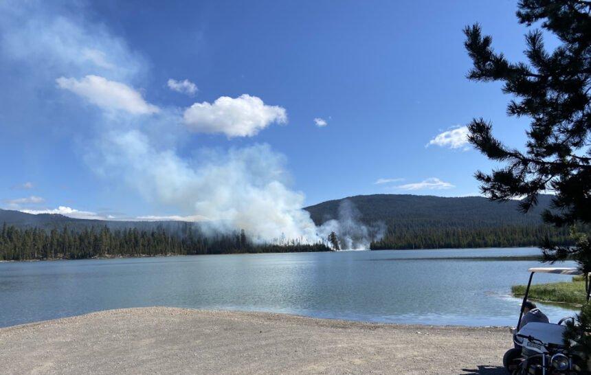 Little Lava Lake fire Kim Reid 1007
