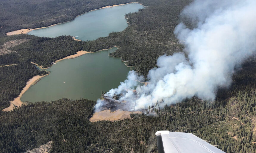 Little Lava Lake fire aerial COFMS 107