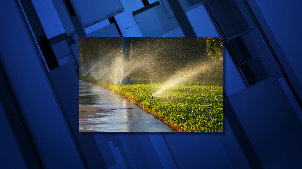 Sprinkler system overspray can make for wet sidewalks -- and icy ones, too, when cold weather hits