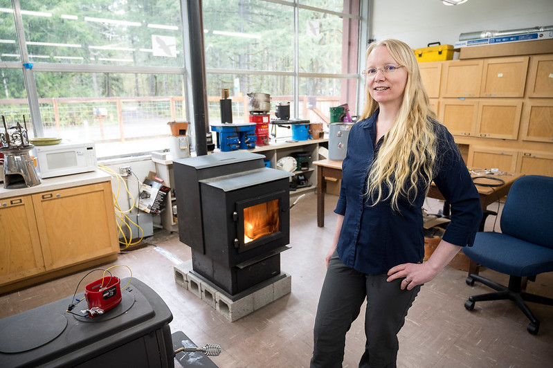 Nordica MacCarty of the OSU College of Engineering is leading a $2.5 million Department of Energy effort to develop a retrofit for wood stoves that will help them burn more cleanly and efficiently