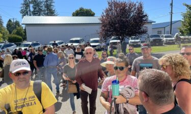 The Coeur D'Alene Public Schools school board meeting discussing a temporary mask mandate was canceled due to security concerns related to the size of a crowd of protesters on September 24.