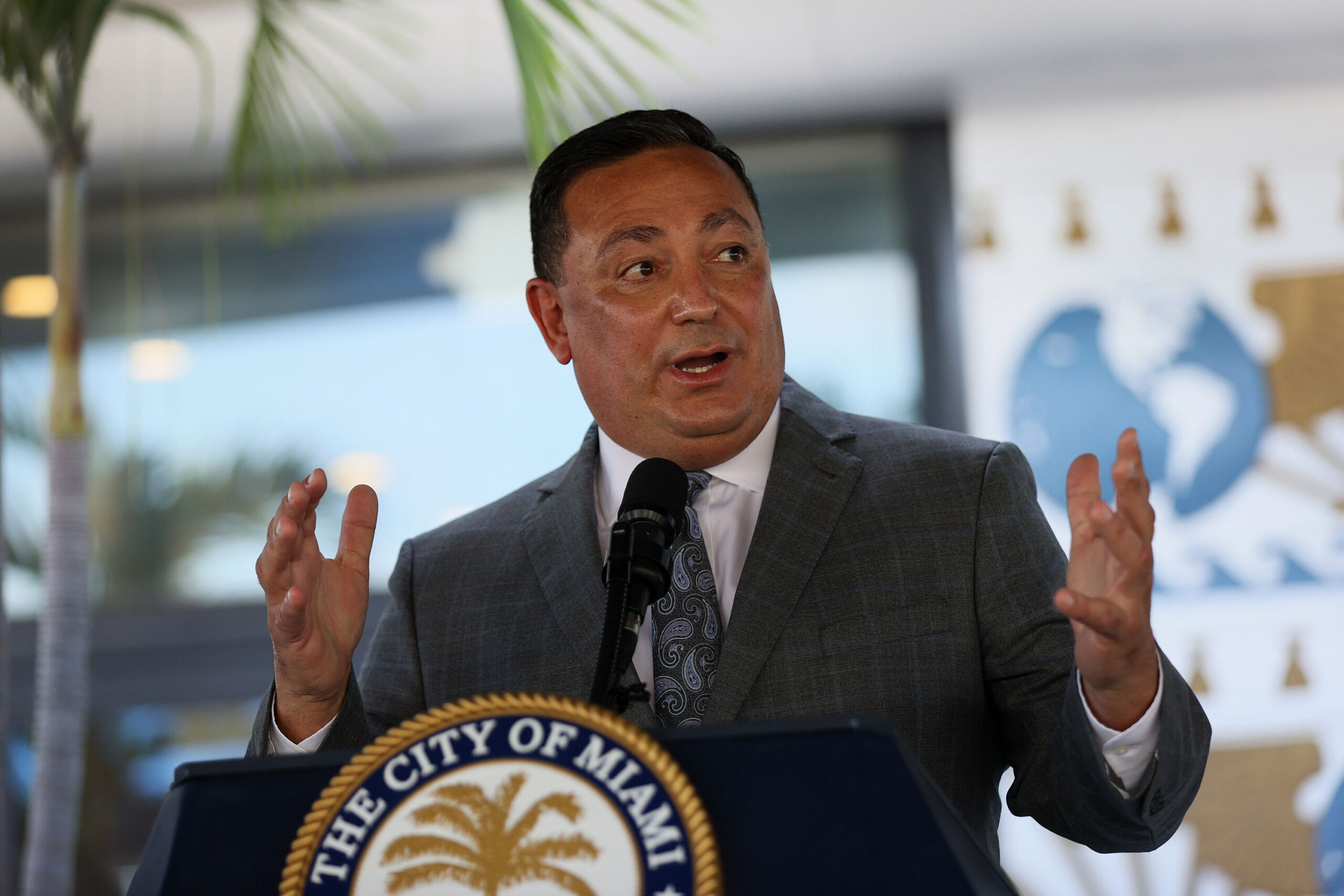 <i>Joe Raedle/Getty Images</i><br/>The Miami City Commission began a public hearing on October 14 to address the complaints against police Chief Art Acevedo