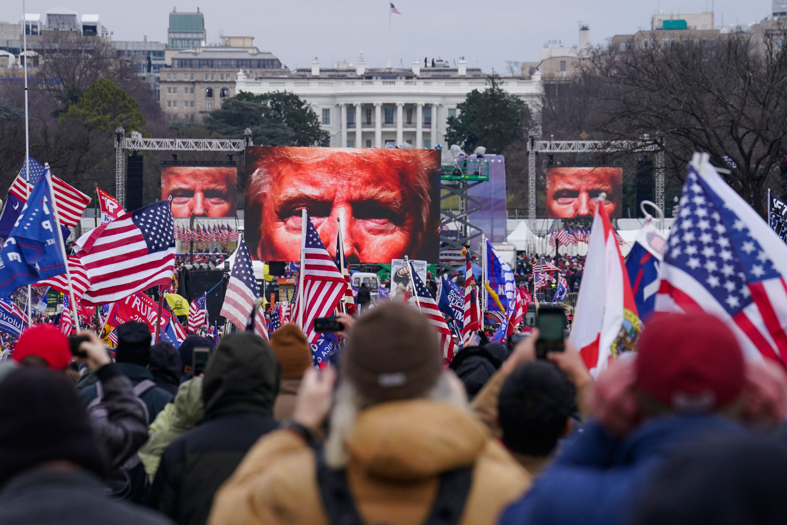 <i>John Minchillo/AP</i><br/>Local police in Washington warned their law enforcement partner agencies a day before the January 6 pro-Trump rally that there were social media reports urging attendees to