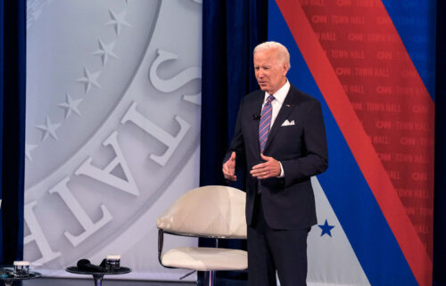 President Joe Biden said Thursday evening he's considering deploying the National Guard to help ease stress on the US supply chain as it prompts growing concern about the economy