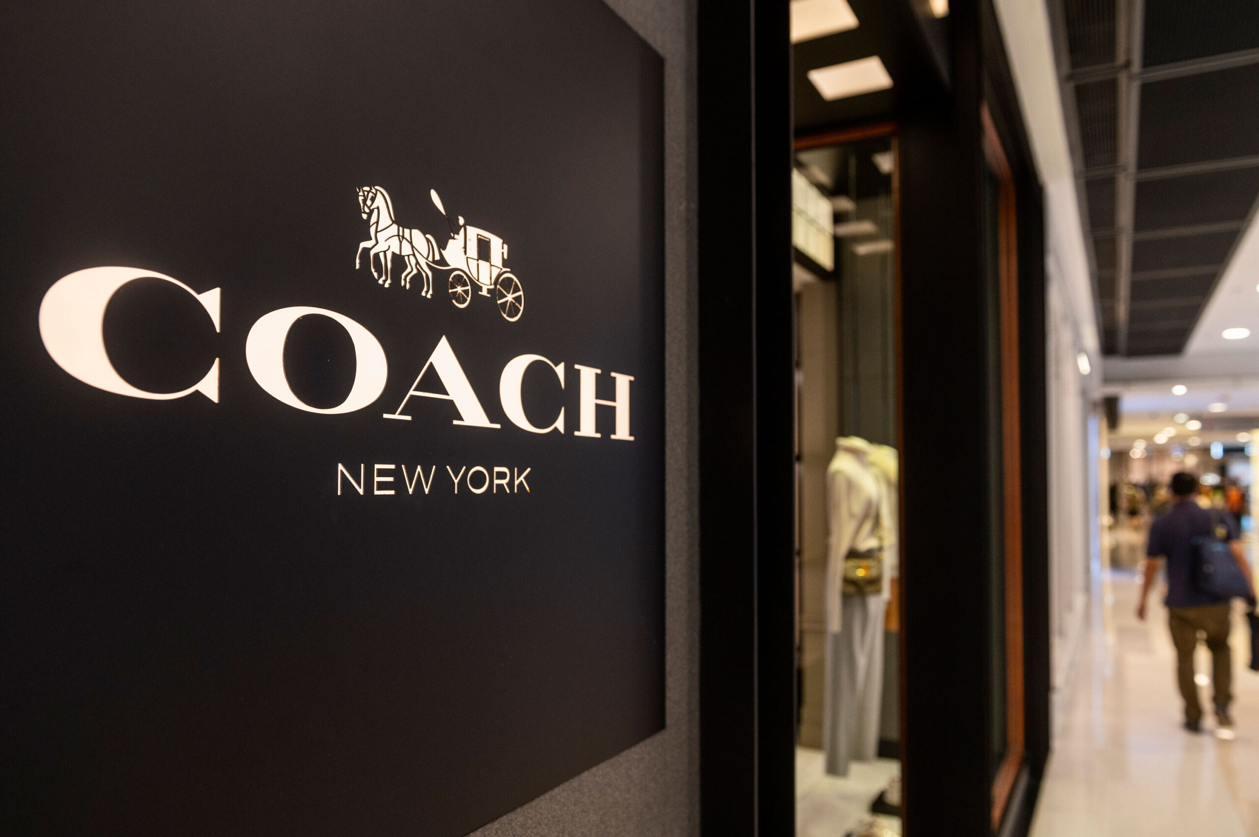 <i>Budrul Chukrut/SOPA Images/LightRocket/Getty Images</i><br/>American multinational fashion and luxury accessories chain brand