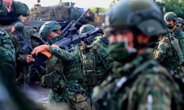 Taiwanese soldiers prepare grenade launchers