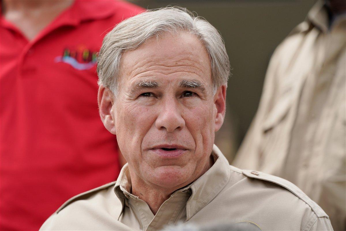 <i>Julio Cortez/AP/FILE</i><br/>Texas Gov. Greg Abbott speaks during a news conference along the Rio Grande