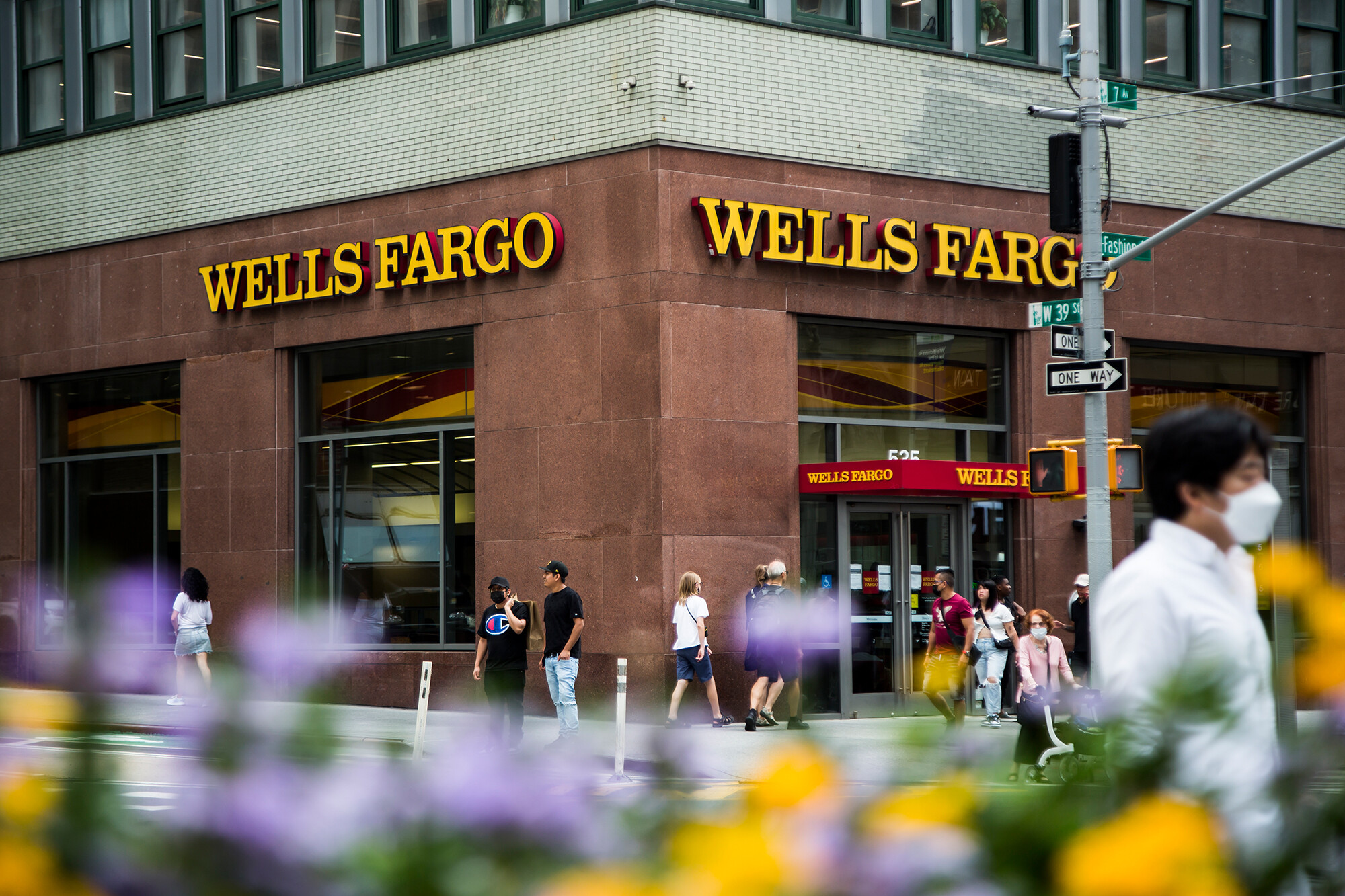 <i>Pablo Monsalve/VIEWpress/Getty Images</i><br/>Wells Fargo's third-quarter earnings were up 59% after it freed up money it had set aside to cover loan losses.
