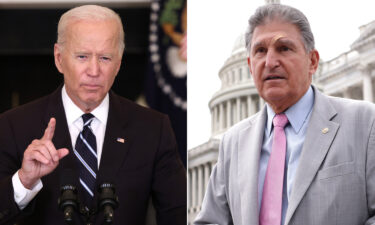 President Joe Biden will host critical moderate Sen. Joe Manchin and Senate Majority Leader Chuck Schumer at his home in Delaware in a push to finalize an agreement on a sweeping economic and climate package