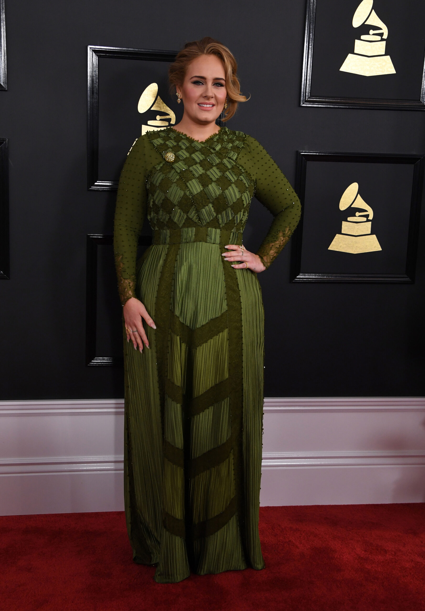 <i>Mark Ralston/AFP/Getty Images</i><br/>Adele has announced a release date for her much anticipated new album. Adele is shown here at the 59th Grammy Awards pre-telecast on February 12